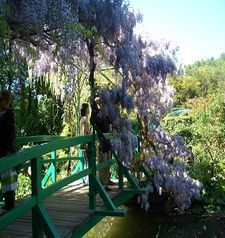 "ours.jpg alt=womens travel, closeup of the japanese bridge, monets garden, giverny, france"">"
