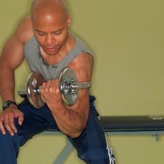 Weight training with my fitness training