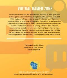 Virtual Gamer Zone flyer