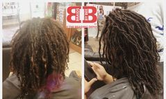 INSTANTLOC DREAD EXTENSIONS USED TO REPAIR THESE NATURAL DREADLOCKS THAT WAS NOT FORMING CORRECTLY