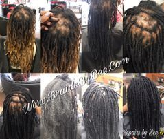 Braids By Bee makes custom repairs for those who has natural long dreadlocks that have  breakage.