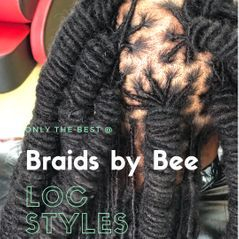 Mens Brotherlocs are secured with Braids By Bee Instantlocs Dreads method