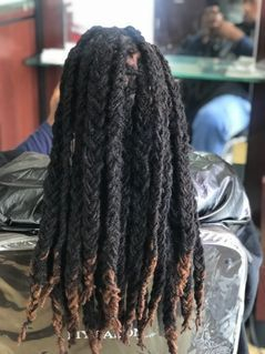 Dreadlocks installed by Braids By Bee in one day with her techniques of InstantLoc Dread Extensions
