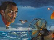 Tribute to Dali.  My Dali tribute features many obvious and hidden surreal elements that were part of Dali's life