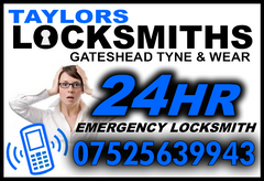 Locksmiths Gateshead call 07525639943
