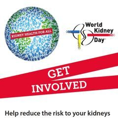 Kidney Awareness participation and words of hope.