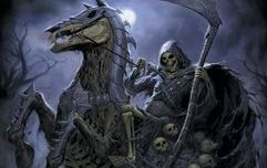 The pale horse rising from the shadows