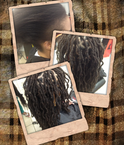 Braids By Bee starts dreadlocks with extensions to skip all the ugly stages
