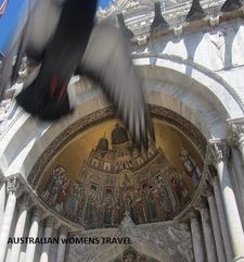 "womens tours.jpg alt=womens travel, pidgeon mid flight, st marks square, venice"">"