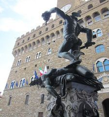 "womens tours.jpg alt=womens travel, rear view of perseus, florence"">"