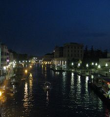 "womens tours.jpg alt=womens travel, lights reflected ni the grande canal , venice"">"