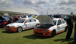 Vulcan Racing MGZR MGZS on display events