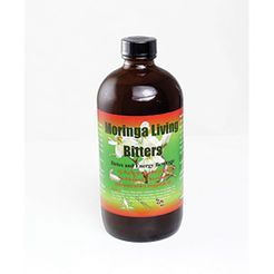 Herboganic Moringa Bitters - 16 oz.   Moringa Bitters is an excellent antioxidant and is packed with vitamins, minerals and amino acids that promotes good eye health, increased energy levels, and a healthy immune system. Moringa Bitters is made from the moringa plant and is useful in the prevention of many diseases including: diabetes, high blood