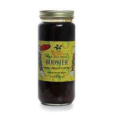 Black Seed Herbal Honey Booster  Robust Honey for All-Over Health  Black seed honey booster is made from a powerful blend of manuka honey, royal jelly, black seed oil, ginger root, green tea leaf, and other all-natural herbs and extracts
