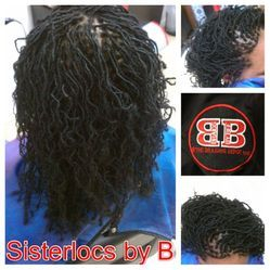 Instantloc Dread Extensions started in Micro size with her natural hair which was permed and would not have been able to start dreads naturally.