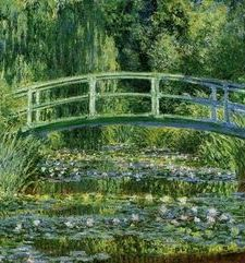 "ours.jpg alt=womens travel,monets painting of the japanese bridge, monets garden, giverny, france"">"