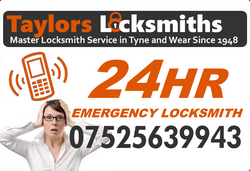 24 hour emergency locksmith gateshead www.taylorslocksmiths.co.uk