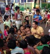 The street children with Rev. Father Art Arnaiz