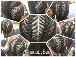 Braids by Bee does fishbone braid for men on natural hair