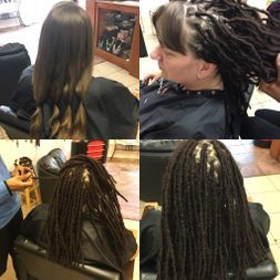 Braids By Bee well known to start dreadlocks on caucasian straight white hair permanently neatest dreadlocks installed.