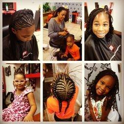 Kids braids done by Bee