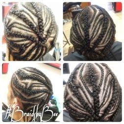 Braids by Bee does men corn row braids in design patterns