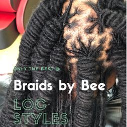 hairstyles by braids by bee with natural dreads repaired with InstantLocs