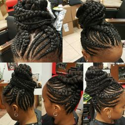 Braids by Bee does invisible corn row braid also known as ghana braids in ponytail