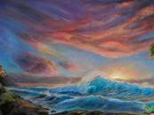 Life Anew, Dramatic Tropical Sunset  Painting