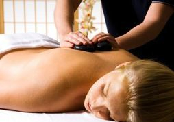 hot stone massage for back neck shoulder pain