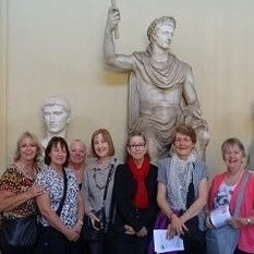 "<img src=""australian womens travel.jpg alt=womens tours,travel group in fron of statues, vatican, museum "">"