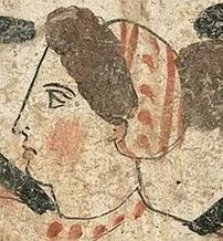 The way Ancient Greeks liked the blush on the Greek female faces
