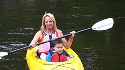 This kayak is great for smaller children with an adult