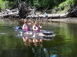 Transparent double kayak
