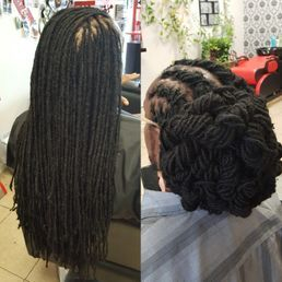 Braids By Bee repairs natural dreadlock with instantloc dread extensions methods as protective styes for natural dreads.