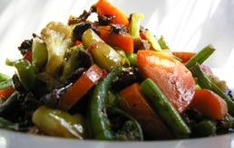 Spiced beef and vegetables.