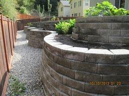 stone terracing walls