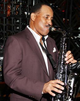 Tony Wynn on saxophone