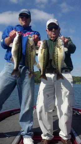Smith Lake fishing guide Brent Crow with Bill Huntley of TH Marine