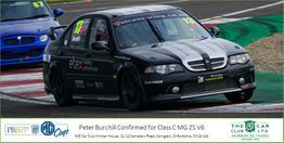 Peter Burchill Team Owner and Racing Driver MGZSV6