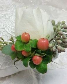 David Austin Patience garden rose boutonniere