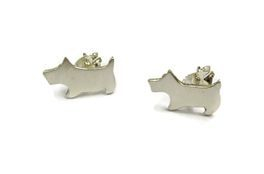 hand made silver scottie dog studs
