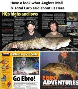Total Carp magazine, Anglers Mail magazine feature River Ebro