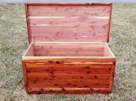 "Red Cedar Chest 24"" x 24"" x 50"" $650.00"