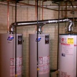 Triple Water Heater Install