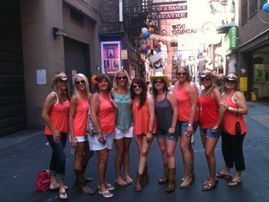 We end the [ub crawl in historic Printers Alley