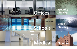 We clean medical facilities, school, offices and more