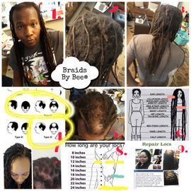 Braids By Bee results for consult about repairs on natural dreads