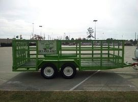 6x16 high Rail trailer rental