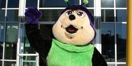 Tumble Bug mascot at Performance Athletics Gymnastics